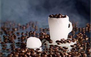 Бесплатные фото кружка,лед,кофе,зерна