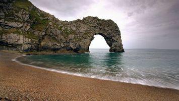 Фото бесплатно берег, арка, песок