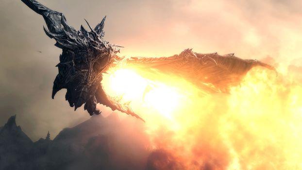 Photo free alduin, dragon, the elder scrolls v: skyrim
