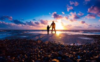 Photo free shore, beach, sunset