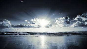 Бесплатные фото берег,море,волны,горизонт,солнце,небо,облака