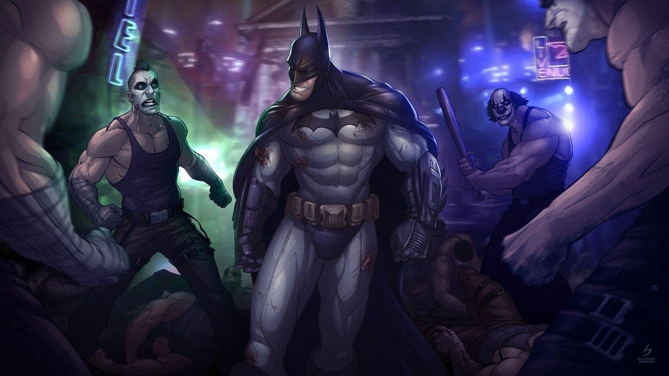 Фото бесплатно бэтмен, костям, злодеи - на рабочий стол