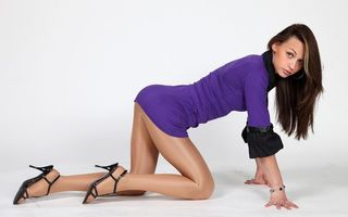 Фото бесплатно босоножки, платье, ноги