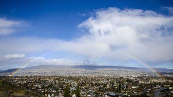 Фото бесплатно горизонт, радуга, небо