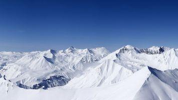 Заставки горы, снег, высоко