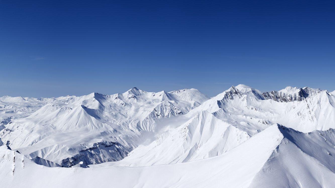 Фото бесплатно горы, снег, высоко, небо, голубое, лед, природа, природа
