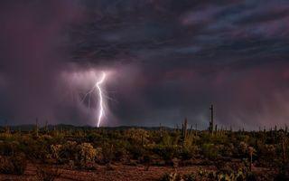 Фото бесплатно гроза, молния, дождь