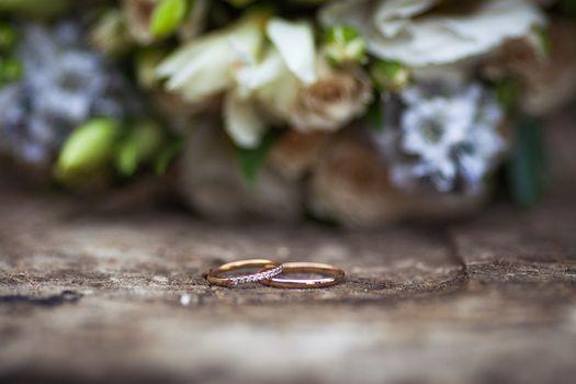 кольца, свадьба, золото, бриллианты, цветы