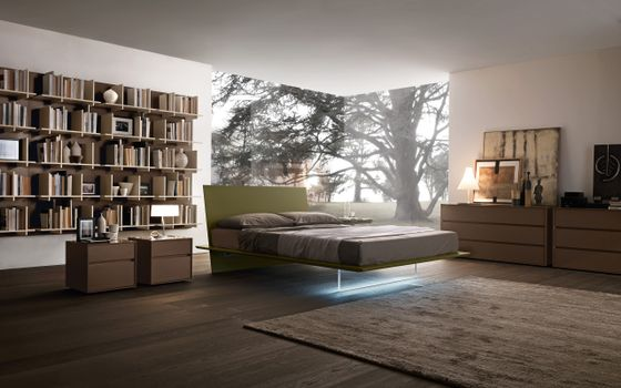 Photo free room, bed, lighting