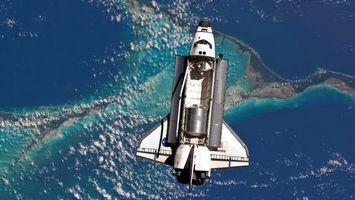 Бесплатные фото корабль,крылья,двигатели,сверху,земля,вода,космос