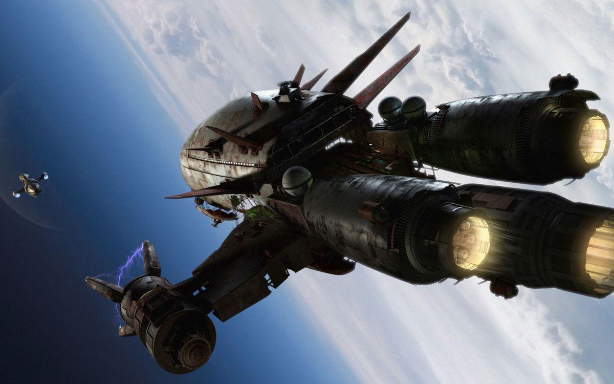 Фото бесплатно космические, корабли, звездолет - на рабочий стол