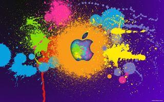 Бесплатные фото краски,цвета,эппл,яблоко,логотип,фон,разное
