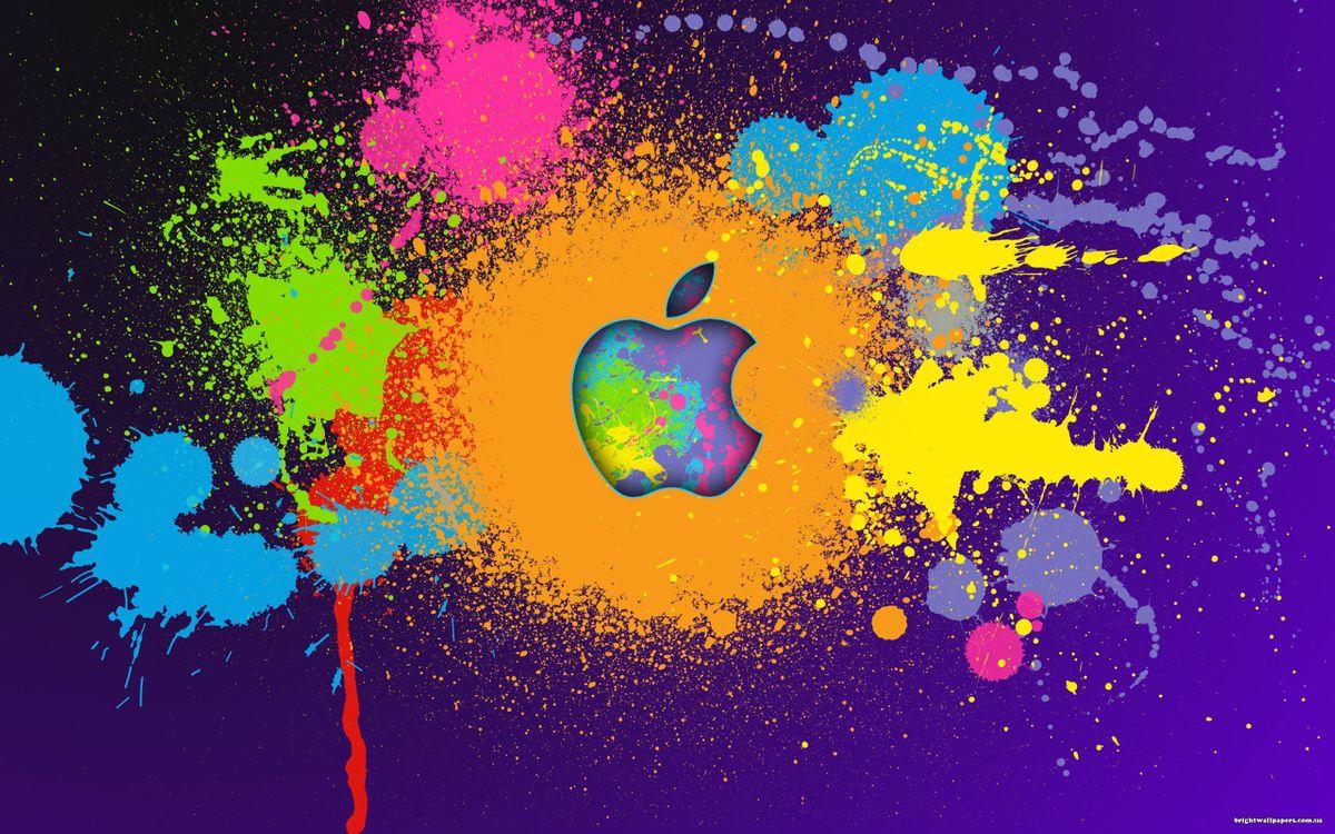 Обои краски, цвета, эппл, яблоко, логотип, фон, разное на телефон | картинки разное