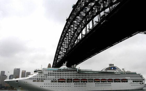 Фото бесплатно мост, конструкция, теплоход
