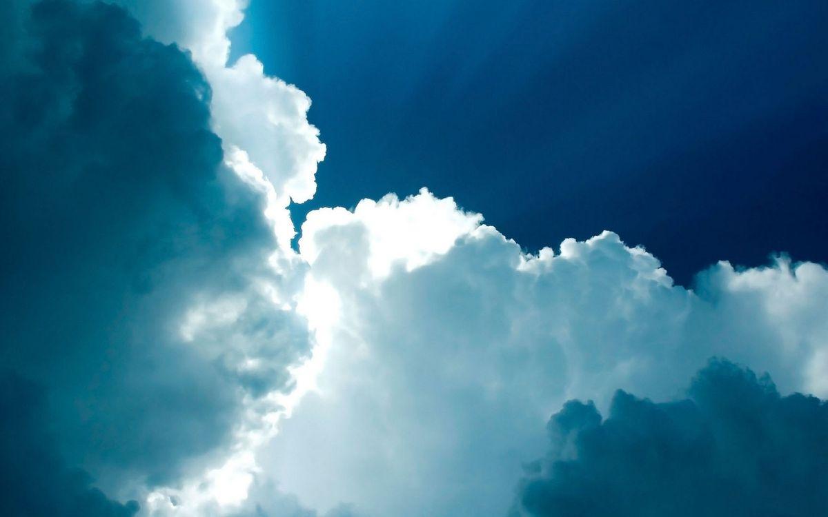Фото бесплатно небо, синее, облака, белые, лучи, солнца, природа, природа