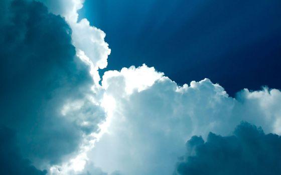 Фото бесплатно небо, синее, облака