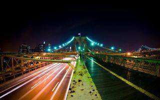 Бесплатные фото ночь,река,мост,освещение,огни,машины,фото с задержкой