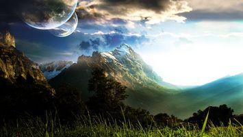 Фото бесплатно новые миры, земля, скала