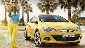Photo free Opel, yellow, lights