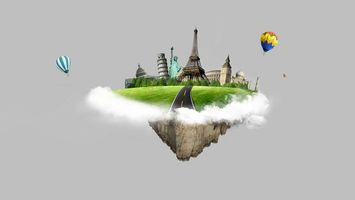 Заставки остров, шары, достопримечательности