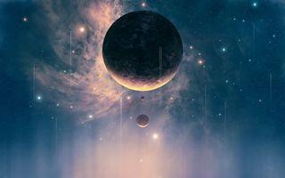 Фото бесплатно галактики, корабли, кометы