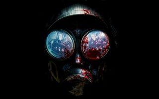 Бесплатные фото противогаз,радиация,кровь,стекла,черный,фон,сталкер