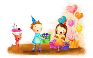 Заставки рисунок, день, рождения