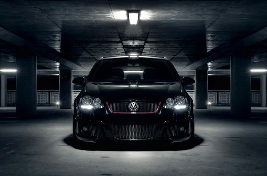Photo free volkswagen, golf, black