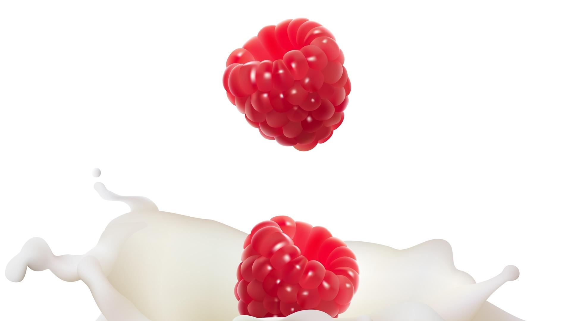 ягода, малина, красная