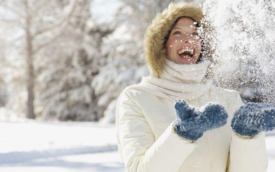 Фото бесплатно радость, снег, девушка