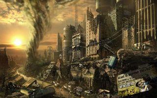 Фото бесплатно рендеринг, город, руины