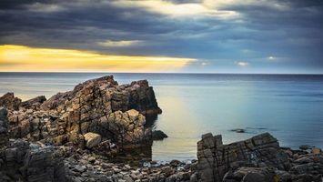 Бесплатные фото берег, камни, море, горизонт, небо, облака, пейзажи