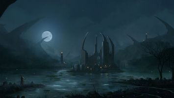 Бесплатные фото болото,луна,вода,люди,остров,разное