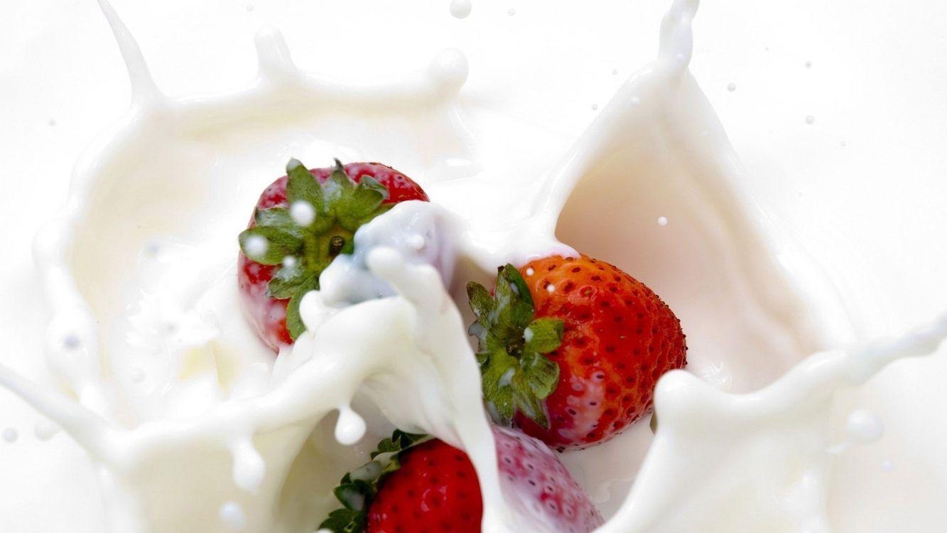 Фото бесплатно десерт, клубника, красная - на рабочий стол