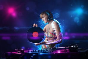 Photo free disco girl, girl, headphones