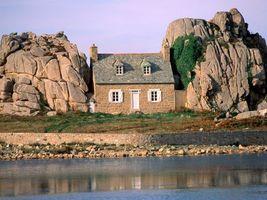 Фото бесплатно дом, окна, камни