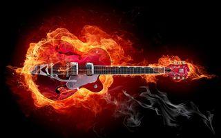 Заставки шея, струны, пламя