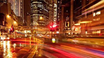 Бесплатные фото город, ночь, огни, дома, небоскребы, улица, переулок