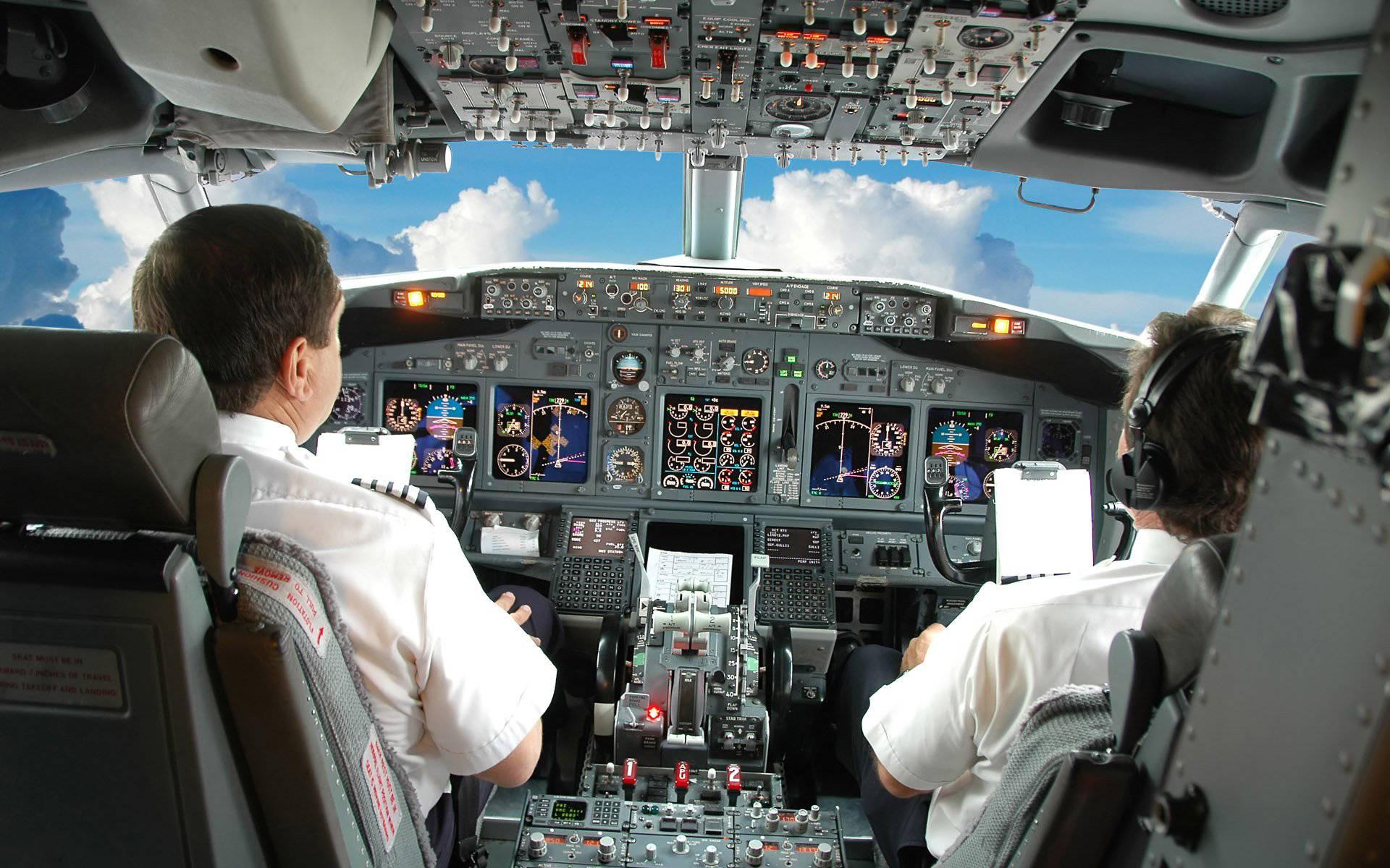 Обои кабина пилота, боинг, панель управления, датчики