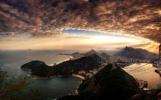 Бесплатные фото море,город,бухта,лодки,яхты,фуникулер,небо