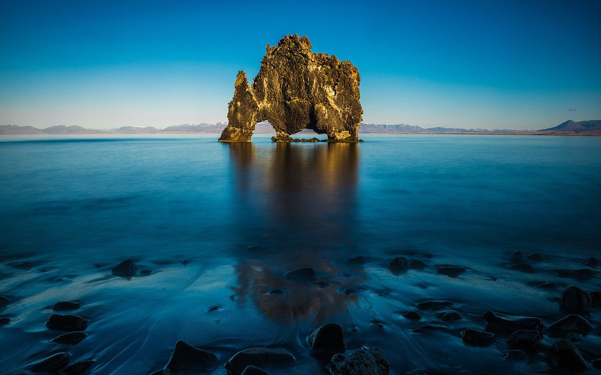 Photos for free sea, blue, rock - to the desktop