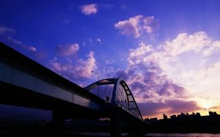 Бесплатные фото мост,сооружение,дорога,конструкция,река,небо,облака