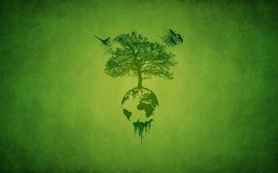 Фото бесплатно планета, земля, дерево