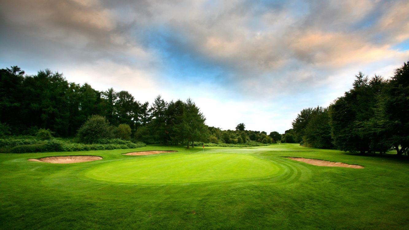 Фото бесплатно поле, гольф, газон, трава, флажок, лунка, спорт, спорт