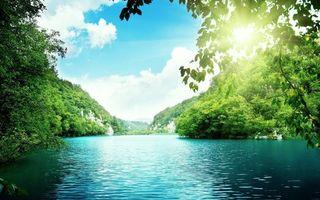 Фото бесплатно природа, озеро, солнце