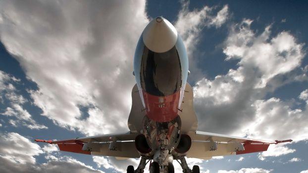 самолет, большой, турбины, кабина, крылья