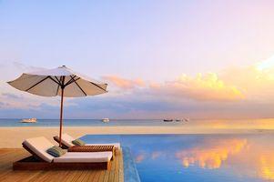 Бесплатные фото тропики,мальдивы,море,пляж,лодки,курорт,бассейн