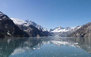 Фото бесплатно вода, небо, снег