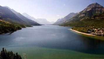 Бесплатные фото вода,река,озеро,горы,лес,деревья,небо
