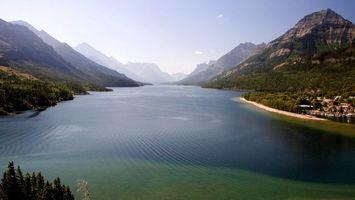Фото бесплатно озеро, деревья, река